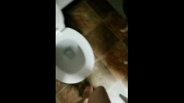 Stripper Going Pee In Club Bathroom At End Of Night