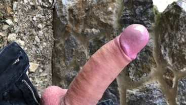 Quickly OUTDOOR & Young Men Jerking OFF HIS HUGE DICK (Intense) / HUGE LOAD