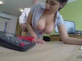 LOAN4K. Girl gets a lot of money after sucking and riding a dick