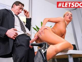 LETSDOEIT – Slutty German Secretary Caught Masturbating By Her Boss