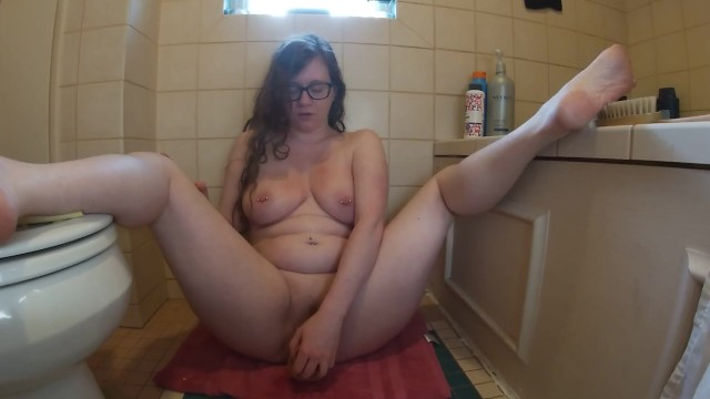 Breast forms realistic glue-on - Using my realistic dildo, filmed using my gopro