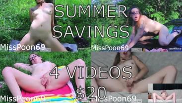 4 VIDEOS JUST $20