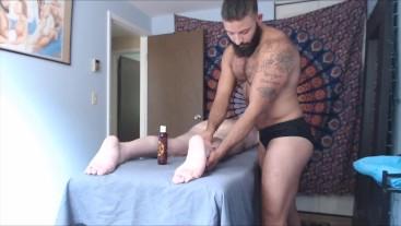 Sensual Massage Leads to Hard Raw Fuck for FTM TransMan