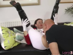 Doggystyled euro mature blows hard cock