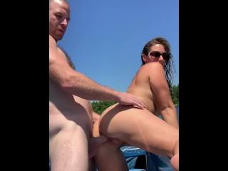 Amateur Escort Fucking n Public Boat Ride with Oral Cream Pie - Austinlillian