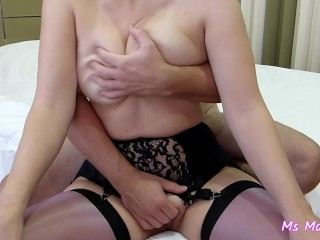 [MINI] Sexy stockings, tits get massaged and slapped, fucking, LOUD orgasm