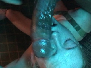 Deepthroat Queen Kinky Tink gets Extreme BBC Throat Abuse Face Fuck