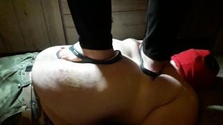 286lbs / 130kg girl trampling