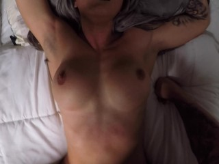 Tight Fit Girl Fucks Back with Creamy Pussy and Big Ass – Amateur
