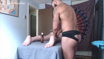 Sensual Massage Leads to Hard Raw Fuck for FTM TransMan (HD VERSION)