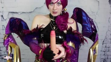 Cosplay Sissification KDA Evelynn x Akali Leauge of Legends FULL VID Femdom
