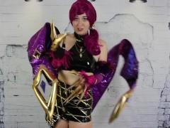 Cosplay Sissification KDA Evelynn Akali Leauge of Legends TEASER OmankoVivi