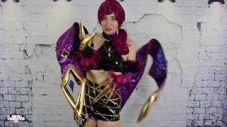 Cosplay Sissification KDA Evelynn Akali Leauge of Legends TEASER OmankoVivi