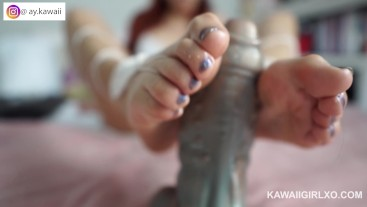 Oiled Foot job and Pussy Fingering Kawaii_girl