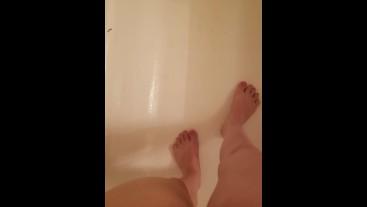 Short Girl Standing Piss In Shower