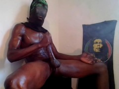 Chilling Smoking Jacking my Big Black Dick pt 4....4 huge cumloads!