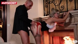 VIP SEX VAULT - Romantic PinUp Couple Passionate Love Near The FirePlace