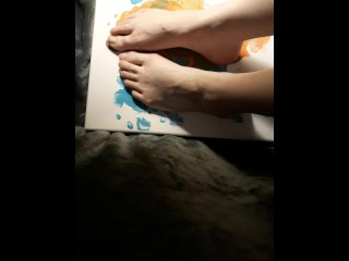 Exclusive/kink/with messy playing feet with
