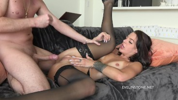 Cuckold Watches Evelin get Hardcore fucked and pounded !!!