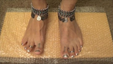 My Feet Popping Bubble Wrap