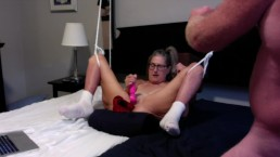 Hot MILF Complete Sex Session 12 Inch Dildo, Blowjob, Fuck and Squirt