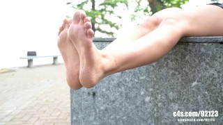 Foot fetish model