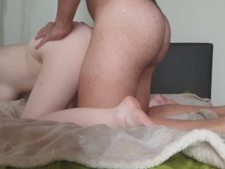 Teen with big tits fucked hard doggystyle and moans loudly