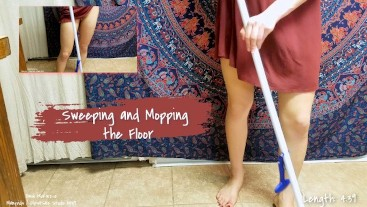 Sweeping and Mopping the Kitchen Floor