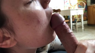 Young 18 year old girlfriend POV blowjob