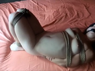 Young girl hogtied hard
