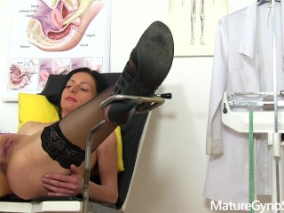 Spy cam recording of sexy mature woman gyno exam MatureGynoom