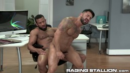 RagingStallion Ebony Daddy Fucks Coworker On His Desk