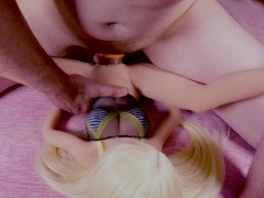 Small pussy big tits tiny blonde doll fucking