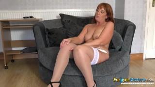 EuropeMature Hot Mature lady Solo Striptease
