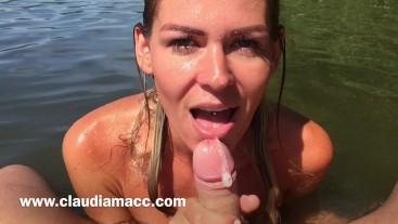 Slow motion shot -blowjob - cum in mouth