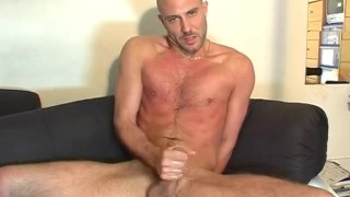Str8 guy serviced his big dick in gay porn in spite of him.