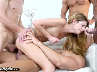 DogHouse Petite Italian Babe Rebecca Volpetti Gets Her Way With Big Dicks Charlie Dean, George Uhl, Rebecca Volpetti