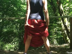 Peeing on puplic trail - german amateur - Theodora Einhorn