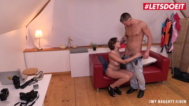 LETSDOEIT - Busty Russian Nympho Rides Photographer's Cock
