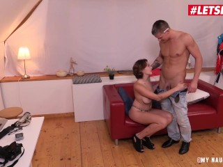 Boobs Massgae Letsdoeit - Busty Russian Nympho Rides Photographers Cock, Big Ass Babe Big