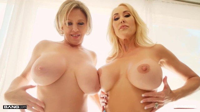 Rammed - Two Hot Blonde MILFs Sharing A Big Cock