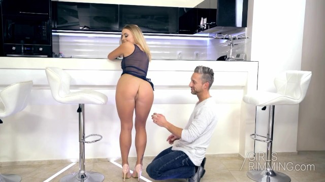 Hot anal rimming with sexy blonde Danielle Soul