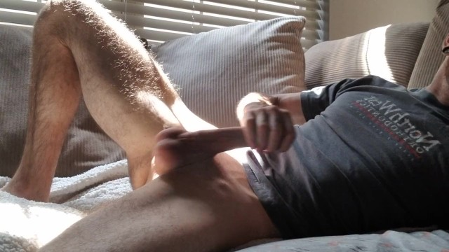 Jerking my cock watching my mother - Morning fun. watch me jerk my massive cock untill i cum everywhere