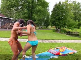 Shake The Snake – Summer Pool Babes Fucked Hard
