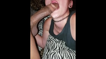 Snow bunny and the big black cock