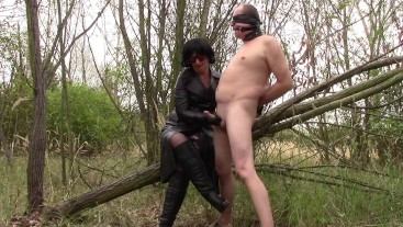 My forest slave: Cum on my leather boots