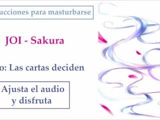 JOI Español hentai Sakura Iucciones para masturbarse Reto Cartas