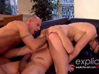 Busty French babe going wild with two boys Angell Summers, Mike Angelo, Titof