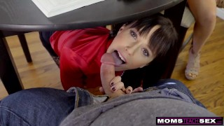 MomsTeachSex - Blowing Her Step Son Under The Kitchen Table S10:E4