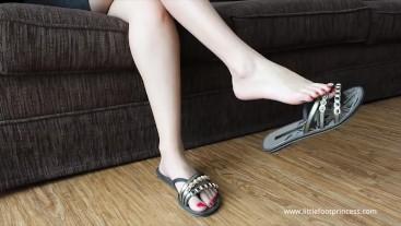 Dangling My Flip-Flops | Little Foot Princess